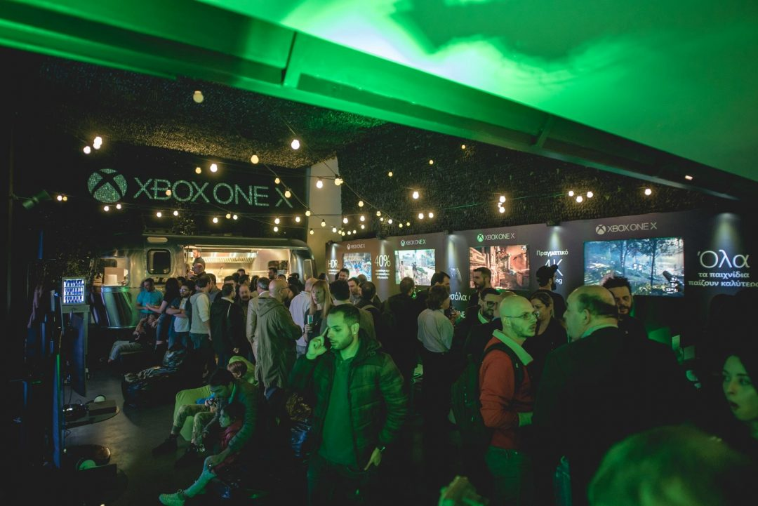 Xbox One X Launch Event for Microsoft Hellas at 48 Urban Garden